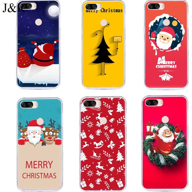 Christmas Cover For ASUS Zenfone Max Plus M1 Case For Asus Zenfone Max Plus M1 ZB570TL X018D X018DC Silicone Back Cover Printing