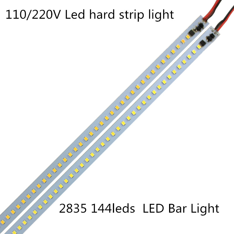 20pcs*1m Kitchen Under Cabinet Counter Energy Saving 168LEDs Hard Luces Strip Lights2835 Bar Kit Pure White Warm White 220V 110
