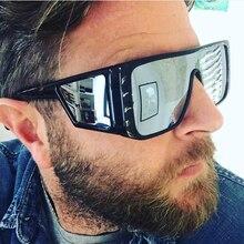 FEISHINI Celebrity Goggle Oversize Sunglasses Square Men Mirror female festival Punk Glasses Ladies UV400 Eyewear oculos de sol