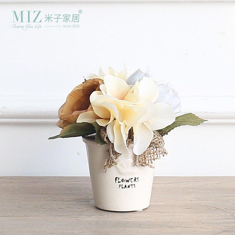 Миз дом Маленький принц серии пион Таблица цветок 13 см высота мини Размеры ваза для цветов, набор HY01012004