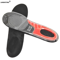 Insoles Soles Elastic Silica Gel Sports Shoe Pad Unisex Cut Sweat Absorbing Anti Sliding Foot Silicone