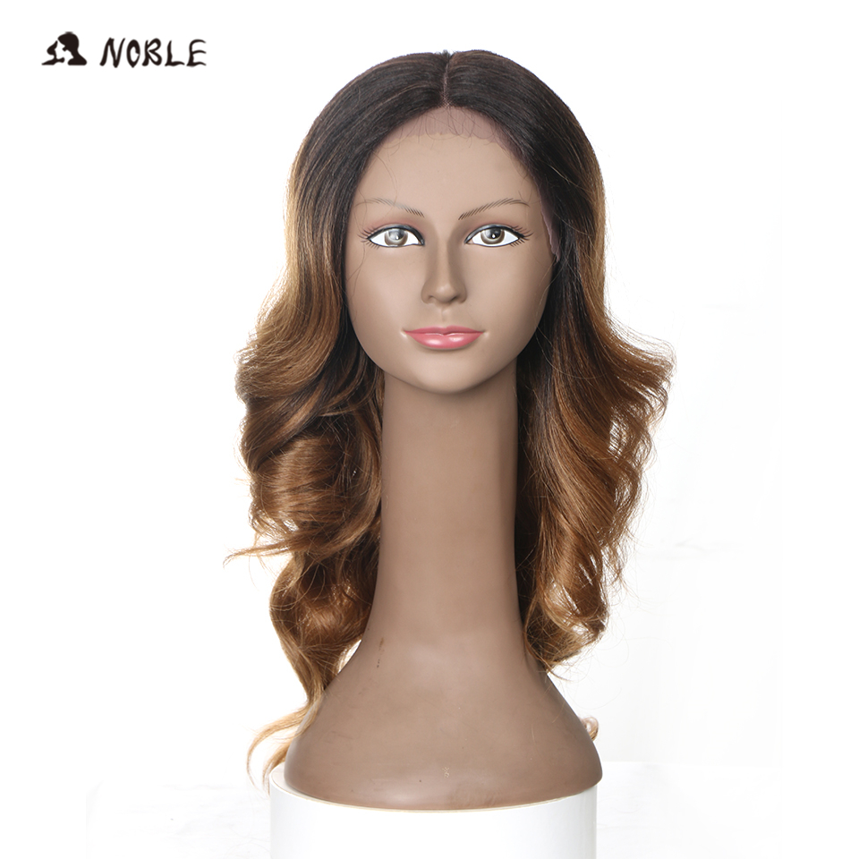 Noble Hair Lace Part Handmade Party Synthetic Lace Front Heat Resistant Wig 20 Inch18 Color For Black Woman Free Shipping
