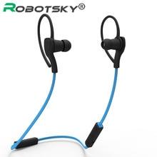 Robotsky спортивные Bluetooth наушники Магнитный Портативный бег Bluetooth наушники с микрофоном для Xiaomi для iphone samsung