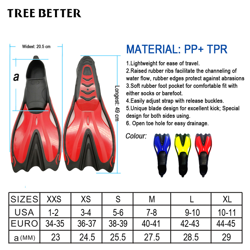 TREE BETTER Ересектерге арналған сүңгуір - Су спорт түрлері - фото 2