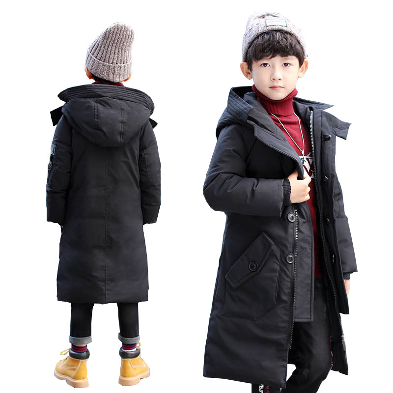 Kids winter coats boys jacket for boys down jackets teenage boys long coats Outerwear children's clothing jackets for boys coat