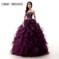 Милые фиолетовые пышные платья длиной до пола Vestido 15 Quinceanera длиной до пола сладкие 15 платья Baljurk