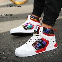 Cresfimix корзины hommes мужские модные удобные туфли из pu искусственной кожи высокого качества унисекс Размеры 35-44 крутая обувь a3282