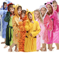 Flannel Animal Bear Tigger Stitch Pokemon Pikachu Onesie Pajamas Children Fantasia Cosplay Costume Hooded Robes For