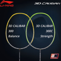 Li Ning 3D CALIBAR 300/300C Badminton Racket Balance/Strength No String LiNing Sports Single Racket AYPM404/AYPP014 ZYF308