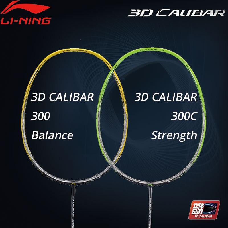 Li-Ning 3D CALIBAR 300/300C Badminton Racket Balance/Strength No String LiNing Li Ning Single Racket AYPM404/AYPP014 ZYF308
