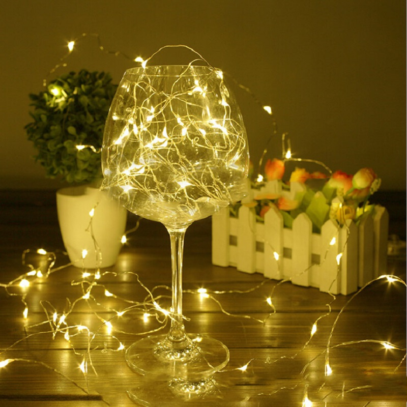 Waterproof 3Meters 10FT Copper Wire 30 LED Fairy String Light Lamp Christmas Decorations for Home Wedding Festival Party Decor