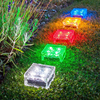 5pcs Lot Waterproof Ip68 Solar Led Outdoor Crystal Ice Glass Plastic Garden Lights IP68 Outdoor Underground