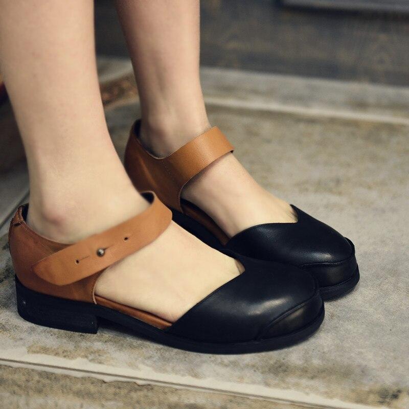 Artmu Original Women รองเท้า Vintage หญิง Mary Janes รองเท้าหนังทำด้วยมือรองเท้าแตะหญิงสบายรองเท้าแฟชั่นรองเท้าแฟชั่น-ใน รองเท้าส้นเตี้ยสตรี จาก รองเท้า บน AliExpress - 11.11_สิบเอ็ด สิบเอ็ดวันคนโสด 1
