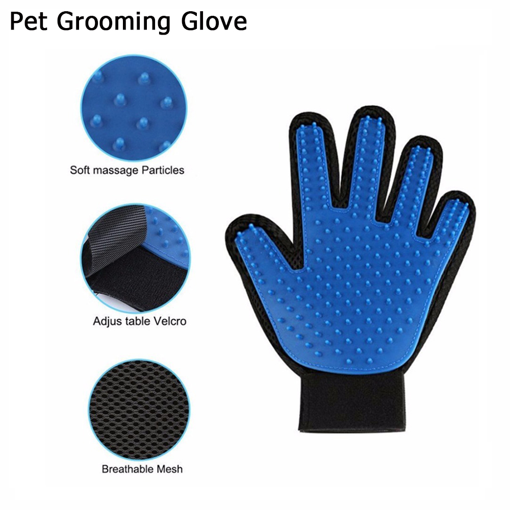 Professional Pet Grooming Glove for Cat Dog Hair Removal Massage Bathing Brush Deshedding Tools with Soft Silicone Brush Comb