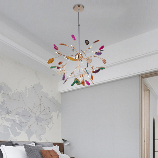 Villa postmoderna variopinta firefly luci lampadario lampada da ...
