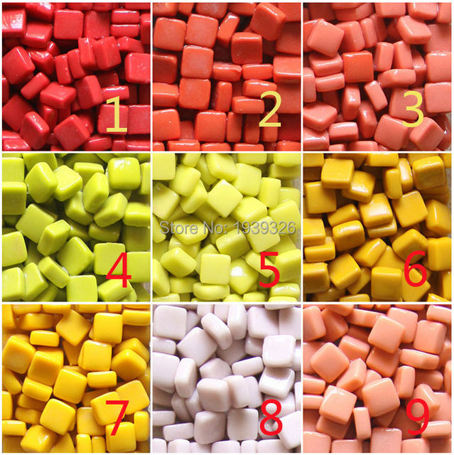 DIY Mosaic tiles for craft 200g 100pieces Mixed color ceramic ...