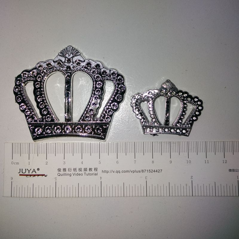 DIY Handcraft Accessory Crown For Clothing Bag and Wedding Size 6.6*5.6cm and 3*4cm