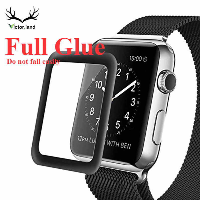Full Glue for iWatch for Apple Watch Series 4 3 2 1 38MM 42MM 40MM 44MM Cover Tempered Glass Film Screen Protector case 3D