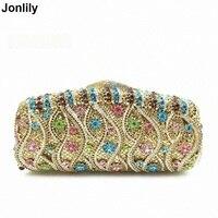 Created Diamond Clutch Handbag Fashion Brand Lady Evening Bag Dinner Party Clutches Colourful Crystal Purse LI 1571