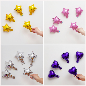 Image 2 - 20Pcs/30Pcs/50Pcs 5Inch  Small Cute Star Heart Foil Balloon Wedding Decoration Birthday Party Baby Shower Balloon Decoration Toy