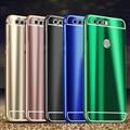 Nova honor8 cool fashion brilhante brilhante metal frame de alumínio tampa do pc de volta caso difícil para huawei honor 8