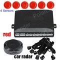 high quality hot sale 9 colors for option 12V auto Car Parking Sensor Assistance Reverse Backup Radar System 6 Sensors