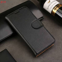 JOVANI 100% leather pebbled leather wallet case for iphone XR XSMAX 7 7plus 8 8plus with card slot bracket phone back cover