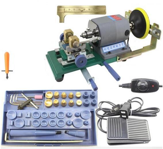 Pearl Holing Drilling Machine Driller Full Set Jewelry Tools W/ Grinding wheel 220V new mini pearl drilling holing machine driller