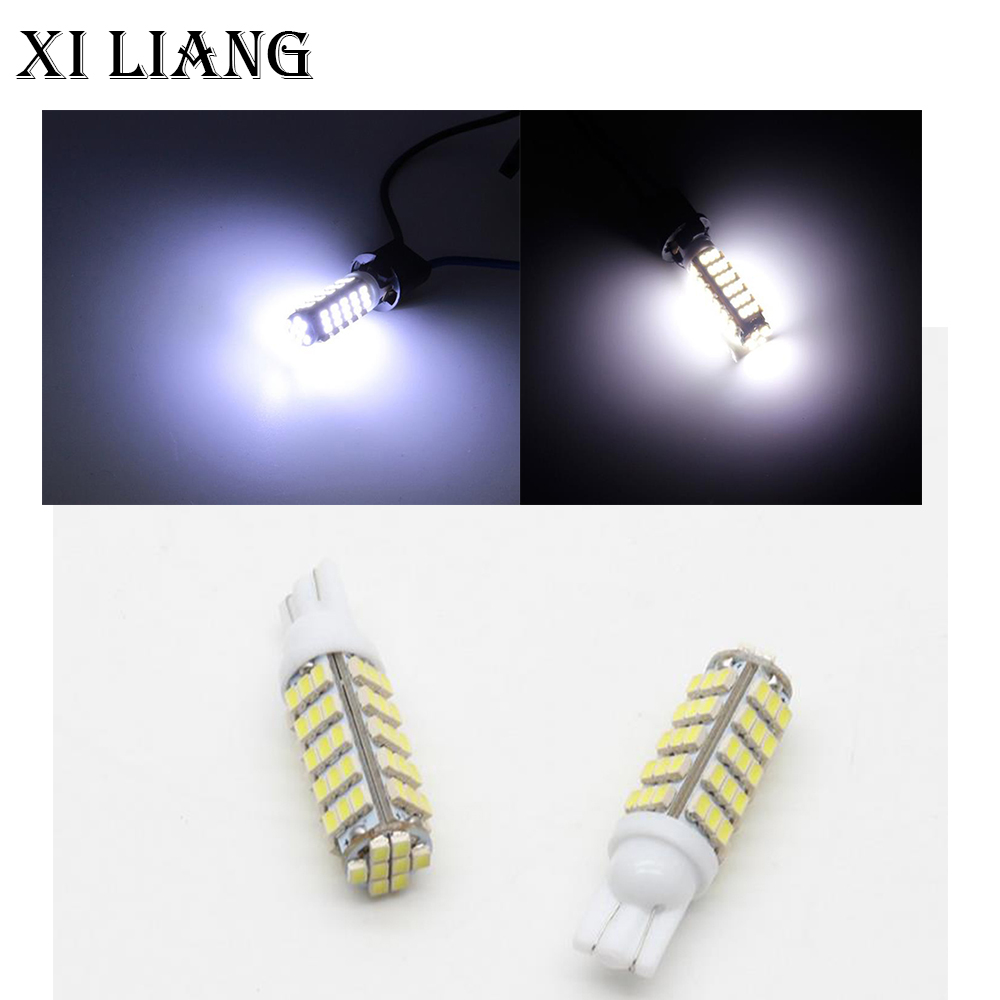 100pcs T10 194 168 W5W DC12V Super bright 1206 68smd led Side Wedge Lamp Clearance light for auto led lights free shippping