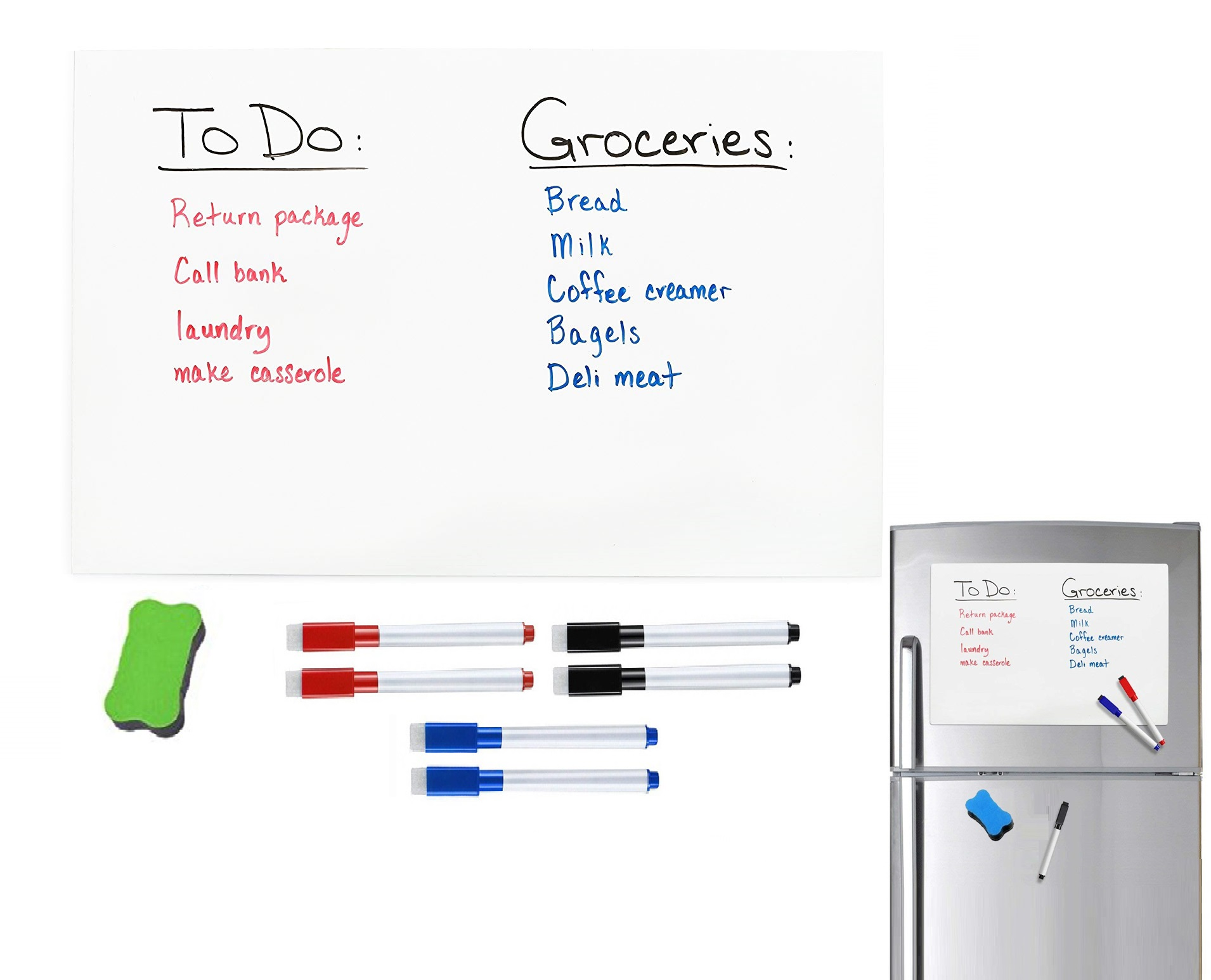 A3 Size 297mm X 420mm Fridge Reminder Magnetic Dry WIPE Whiteboard Sheet for Refrigerator Sticker Markers Eraser Big Note Board-in Fridge Magnets from Home & Garden