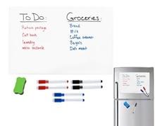 A3 taille 297mm X 420mm réfrigérateur rappel magnétique sec lingette tableau blanc feuille pour réfrigérateur autocollant marqueurs gomme grand tableau de notes