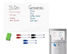 A3 tamanho 297mm x 420mm geladeira lembrete magnético seco limpar folha de quadro branco para geladeira etiqueta marcadores borracha placa nota grande
