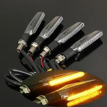 Para buell m2 cyclone S1 Lightning 1125cr 1125 rmoto Universal Luz de señal de giro Flexible 12 LED indicadores parpadeantes linternas