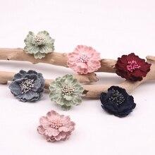20pcs/lot  flower Heads ,Artificial Flowers for Wreath Wedding Decoration Wholesale Handmade