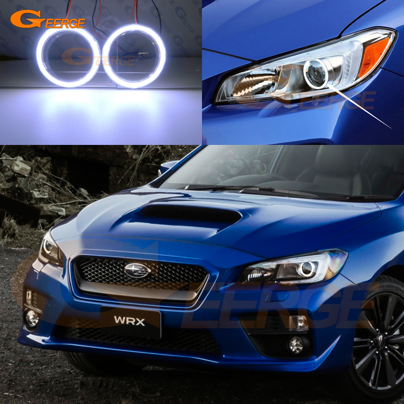 For Subaru Impreza WRX sti 2015 2016 2017 Excellent angel eyes Ultra bright illumination COB led angel eyes kit halo ring