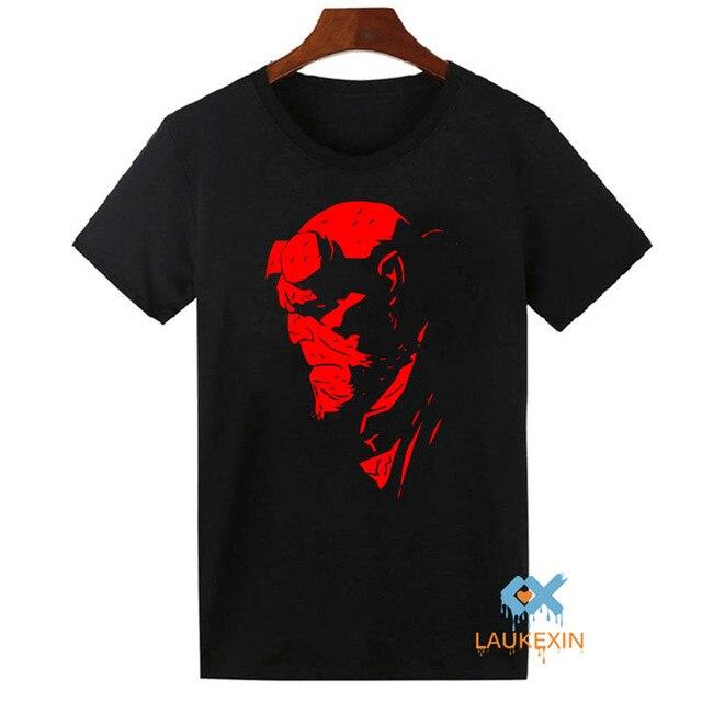 HELLBOY COMIC SUPERHERO COOL T SHIRT UNISEX FUNNY CASUAL ROUND NECK T-SHIRT  Camisetas Hombre TOPS TEE SHIRT US SIZE d2135962240e