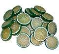 12pcs Lifelike Fake Lemon Slice Garnish Artificial Fruit Faux Food Decor free shipping Dia 5cm