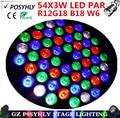 Best price! 54 X3W LED Par Light, RGBW PAR led DMX512 control  DJ equipment disco lights