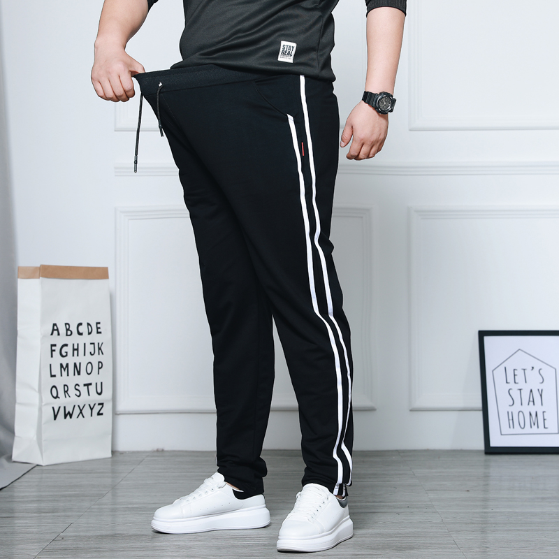 Spring Men's Casual Straight Pants Super Loose Sweatpants Men Joggers Side Stripe Trousers Tracksuit Bottoms Harem Track Pants