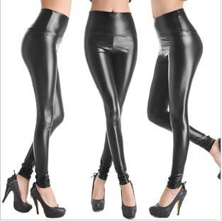 2015 Fashion Faux Leather Pants Women Leggings Punk Black High Waist Plus Size Elastic Women's Legging Pant Trousers - Egosumme Clothing Store store