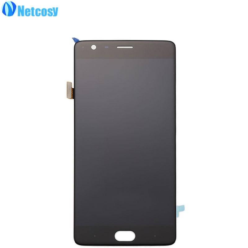 Netcosy LCD Affichage et Écran Tactile Digitizer Panneau En Verre Assemblée Objectif pour OnePlus 3 Trois 1 + 3 Un Plus 1 + 3 Remplacement De Réparation