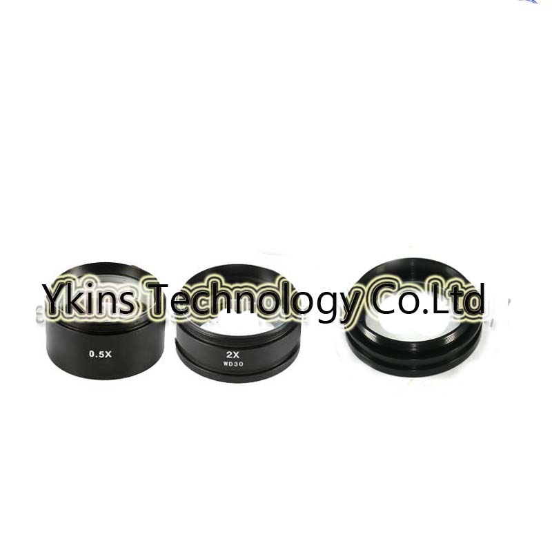 WD165 0.5X WD30 2.0X Stereo Microscope Auxiliary Objective Lens (48mm) Thread For Binocular Trinocular Stereo Microscope fyscope szm 0 5x auxiliary objective lens for stereo zoom microscope wd 177mm
