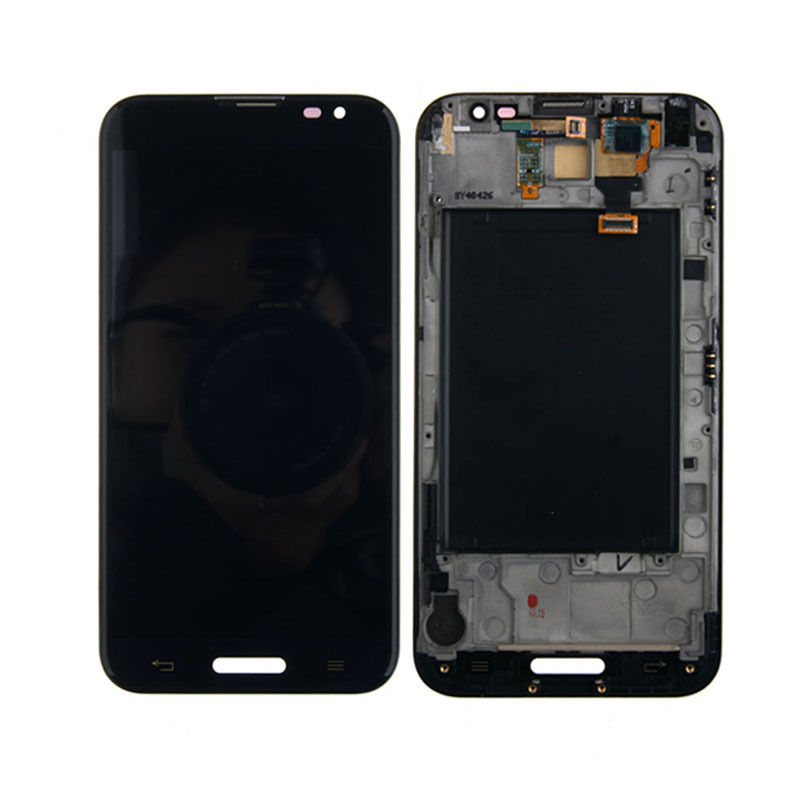 LCD Display Touch Screen Digitizer Frame Assembly For LG Optimus G Pro E980 Black