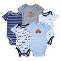 Monte de estilos 5 pcs/lo Primavera Recém-nascidos Bodysuits Corpo Do Bebê Do Algodão Do Bebê Manga Shor Próxima Infantil Bebe menino & Menina Clothesrandom