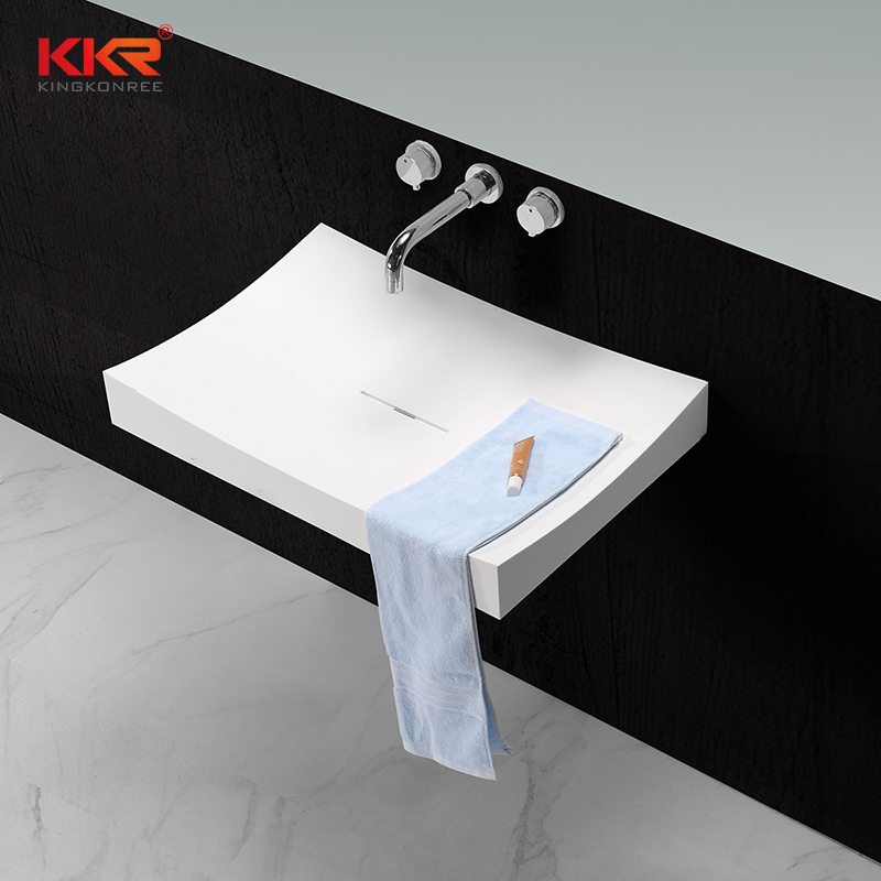 KKR solid surface material artificial stone wall hung wash basin KKR 1347