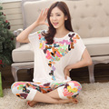 Mulheres pijama de verão definir manga curta senhoras pijama senhoras Homewear confortável Modal tecido de boa qualidade lar roupa Set