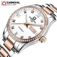 2019 New CARNIVAL Simple Women Watches Luxury Brand Ladies Automatic Mechanical Watch Women Sapphire Waterproof relogio feminino