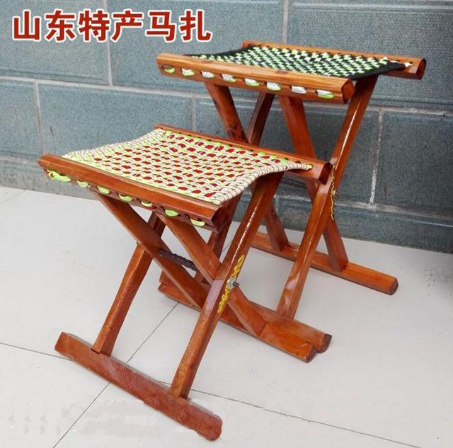 1 PC de madeira jujuba madeira Maciça núcleo Mazza churrasco ao ar livre banquinho dobrável fezes de pesca Mazar cadeira dobrável portátil cadeira de jantar DY29D5