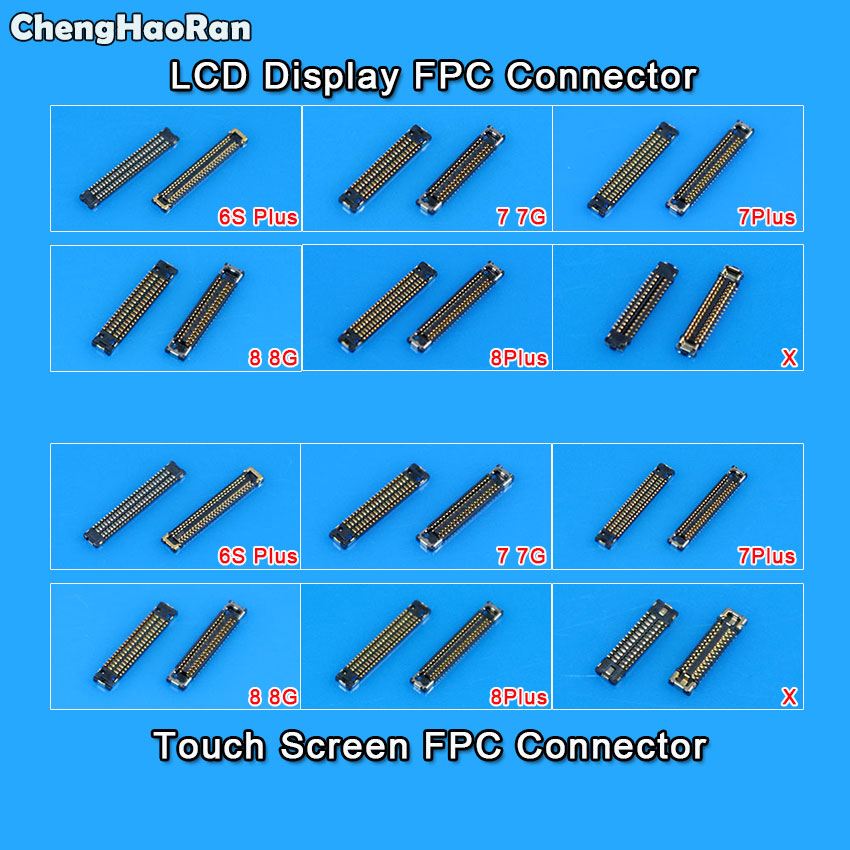 ChengHaoRan LCD <font><b>Display</b></font>/Touch Screen Digitizer FPC <font><b>Connector</b></font> Replacement for iPhone 6S 6SP 7 8 Plus X on Mainboard image