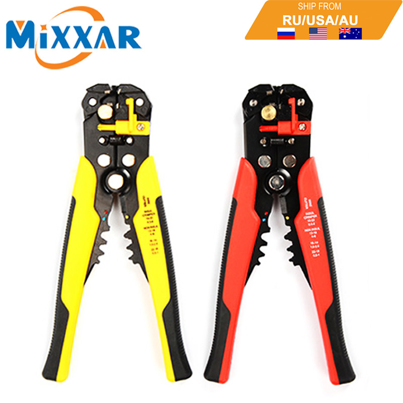 Adjustable Cable Wire Stripper Cutter Crimper Terminal Automatic Multifunctional Plier Tools Cutting Hand tools Electrician Tool 6inch cable cutter plastic handle electric wire stripper cutting plier tool kit